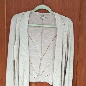 Lucky Brand beige open front long sleeve cardigan